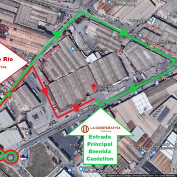 Accesos a La Cooperativa durante las obras de mejora del polígono Molí Nou de Vila-real